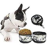 GYWDGS Haustier Faltbare Tragbare Futterschüssel, Futter Hund Katzenfutter Oder Wasser (Tarnung)