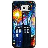 Samsung Galaxy S7Edge Étui, personnalisé Doctor Who Police Call Box Housse Etui Coque rigide Noir Samsung Galaxy S7Edge Étui, Doctor Who Galaxy S7Edge Étui cuh1168
