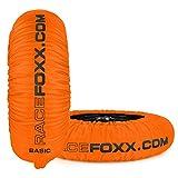 Reifenwärmer RACEFOXX Basic 80° C Heiztemperatur SUPERBIKE, 120/17 vorne und 180 bis 200/17 hinten neon orange mit Koffer