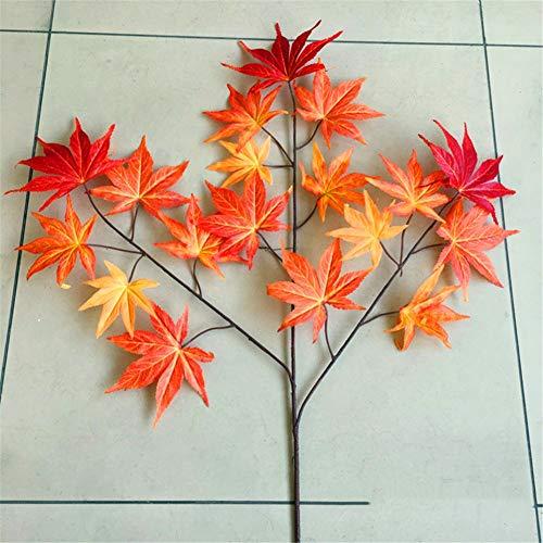 Künstliche dekorative Blumen Simulation Herbst Ahornblatt dekoratives Kunstblatt Kunstbaum aus Leim totes Ahornblatt Simulation lässt Herbst Ahornblatt rotes Ahornblatt 65cm Kunstblumen & -pflanzen.
