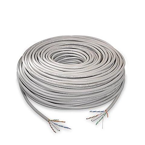 Nanocable 10.20.1404–Câble de réseau Ethernet F/UTP (RJ45LSZH Cat. 6F/UTP (UTP AWG24,, gris, rouleau de 305m