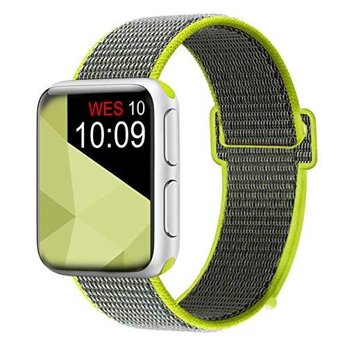 Vandarui Kompatibel mit Watch Armband 42mm/44mm, Weiches Nylon Ersatz Uhrenarmband Ersatz für Watch Series 4, Series 3, Series 2, Series 1 (42mm/44mm, New Blitz) Nylon-armband