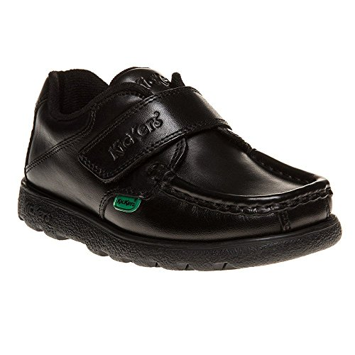 Kickers Fragma Strap Shoes Black 6 Child UK