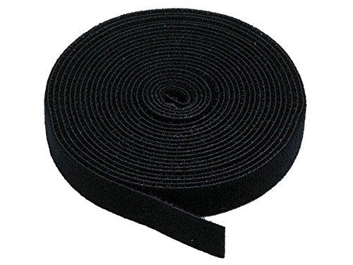 Monoprice Klettverschluss-Band, 4,57 m Rolle, 1,9 cm breit-Schwarz (105828), Schwarz, 1 Pack