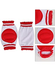 Distinct® Niños Seguridad de arrastre del codo del amortiguador de Infantes bebés de los niños rodillera (rojo)