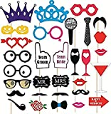 #5: Kala Decorators Set of 31 Funny Wedding Party Props,Photo Booth Props,Bride to be Props,Groom to be Props for Wedding,Party Photo Booth Board (Wedding, Party)