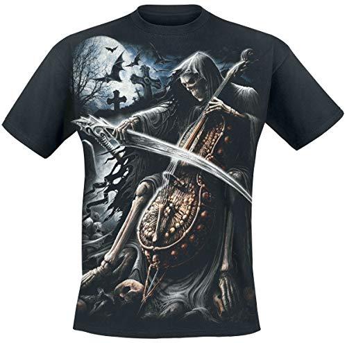 Spiral Symphony Of Death Camiseta Negro