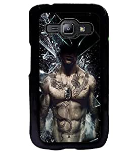 Fuson Premium Shake Up Metal Printed with Hard Plastic Back Case Cover for Samsung Galaxy J1