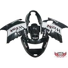VITCIK (Kit de Carenado para Honda CBR1100XX F5 1996 - 2007 CBR1100 XX F5 96 - 07) Accesorios de repuesto para bastidor y carrocería con completo para motocicleta y moldeo por inyección en ABS(Negro & Blanco) A023
