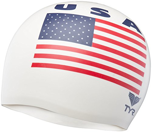 tyr swim cap usa 2000 white