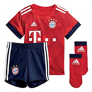 adidas Baby 18/19 FC Bayern Home Babykit Mini-heimausrüstung, FCB True Strong red/White, 74