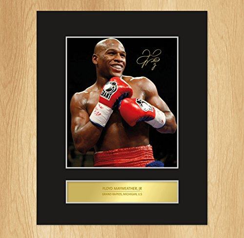 Floyd Mayweather Signed Mounted Photo Display
