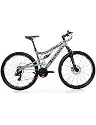 "Moma Mountainbike 29"" BTT SHIMANO - Bicicleta montaña, unisex/adulto, cuadro de aluminio, doble disco y doble suspensión, talla L-XL (1.80-2.00 m)"
