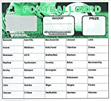 Football Fundraising Cards, 40 Team (Pack 25)