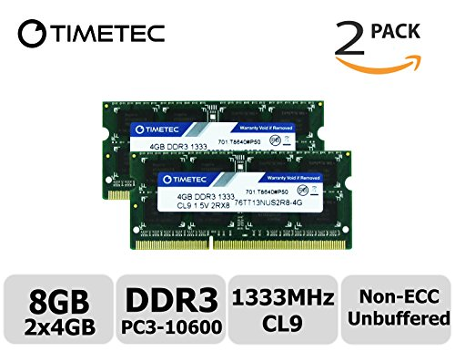 Aopen Komponenten Mini-pc (Timetec Hynix IC 8GB Kit (2x4GB) DDR3 1333MHz PC3-10600 Unbuffered Non-ECC 1.5V CL9 2Rx8 Dual Rank 204 Pin SODIMM Laptop / Notizbuch Arbeitsspeicher Module Upgrade (8GB Kit (2x4GB)))