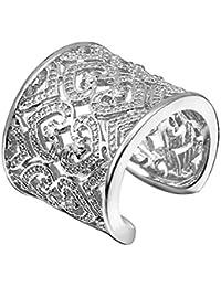 Hosaire 1x Mme Bague anneau creux élégants bijoux bibelots cadeau bague en forme de coeur