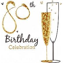 Einladungen 80. Geburtstag, Folie, 6 Stück