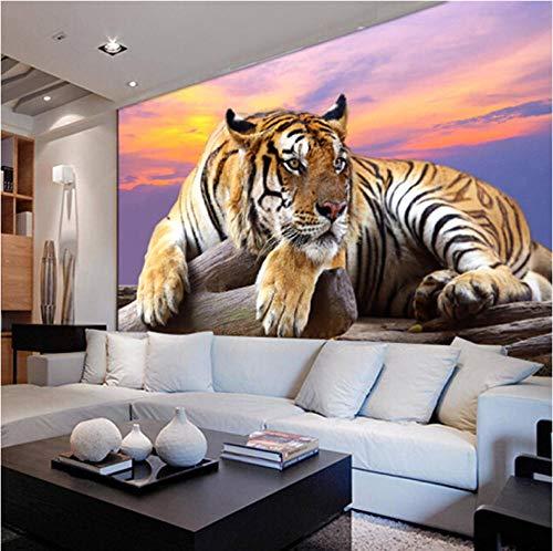 Jukunlun Modernen Stil 3D Lebensechte Tier Sibirischer Tiger Tapete Für Wohnzimmer Sofa Tv Hintergrund Angepasstes Wandbild Tapete Für Wände-350X245Cm -