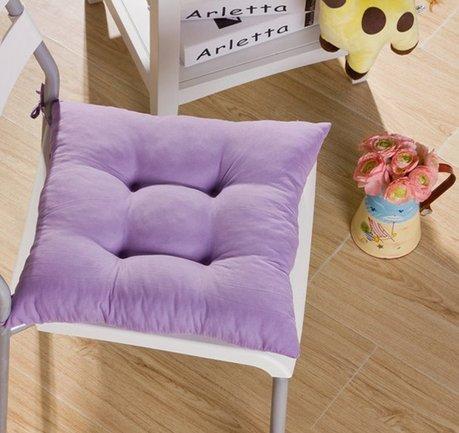 Tia-Ve weichen Stuhl Kissen Seat Pad Sitzkissen Küchengarten Esszimmer Stuhl 40x40x8 Lila (Stühle Lila)
