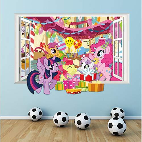 Cczxfcc 3D Meine Kleine Pferd Fenster Wandtattoo Für Kinder Zimmer Dekorative Cartoon Twilight Sparkle Wand Aufkleber Diy Wandbild Kunst Wohnkultur