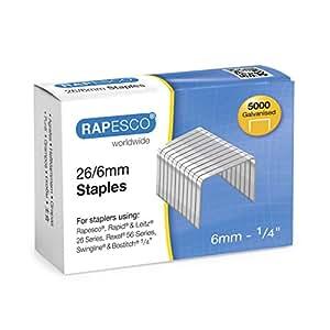 Rapesco S11662Z3 Punti, 5000 Pezzi, 26/6 mm