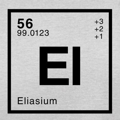 Elias Periodensystem - Herren T-Shirt - 13 Farben Hellgrau