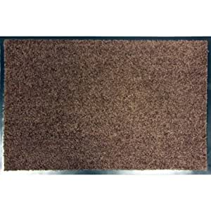 Mercury Flooring - Tapis Wash & Clean 40X60 - Couleur : Brun