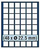 SAFE MÜNZBOX NOVA Nr. 6322 - 48 x 22 mm QUADRATISCHE FÄCHER - IDEAL FÜR 5, 10, 20, Cent EURO - 10 + 50 Pfennig DM MÜNZEN, Münzen in Münzkapseln bis Caps 16 mm Münzen bis zu einem Durchmesser von 22 mm - Münzenboxen - Münzboxen - Münzelemente