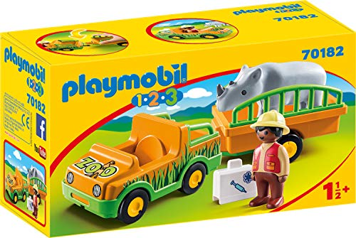 PLAYMOBIL 70182 1.2.3 Zoofahrzeug mit Nashorn, bunt Preisvergleich