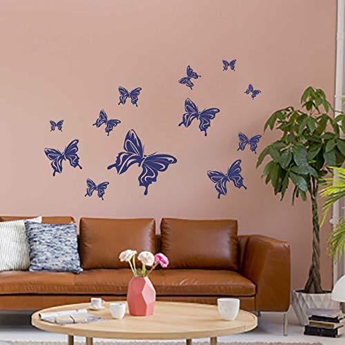 INDIGOS UG Wandtattoo - Wandaufkleber - Wandtattoo Schmetterlinge Aufkleberbogen - 60cm x 30cm königsblau - Dekoration Küche Wohnzimmer Wand
