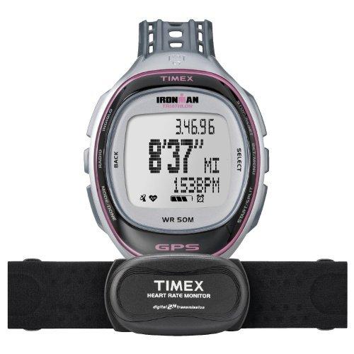 nman Run Trainer GPS -Uhr mit HRM - Silber / Pink ~ Elite ()