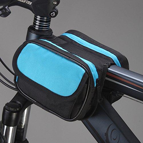 LWJgsa Fahrrad Tasche Für Front Und Mountain Bike. Black and blue