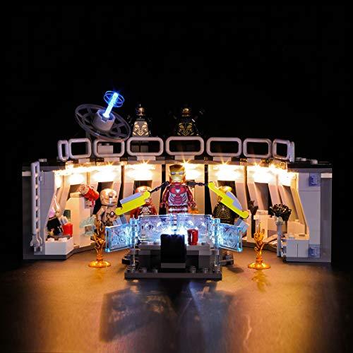 Searchyou - LED Licht Kit für Lego - Kompatibel Mit Lego 76125 für Iron Man's Mech Display (Modell Nicht Enthalten) Nicht Lego Herstellung und Vertrieb - Mech-modell-kit