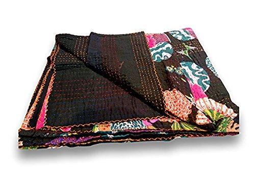 indischen Fruit Print Baumwolle Kantha Quilt Tween Tagesdecken Überwurf Decke (Multi Floral) Bohemian Tagesdecke, Bohemian Betten -