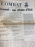 Combat N° 8498 du 10/03/72 : Renault, affaire d'état / Chou en Lai / Barbie