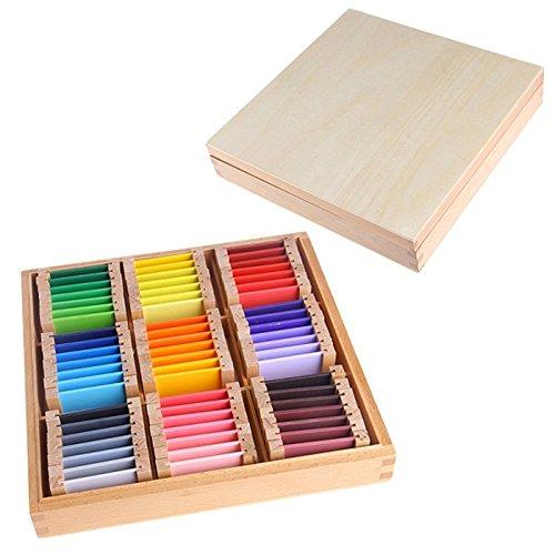 Eleganantimpresionante Montessori - Caja de Madera para tabletas con sensorial Color para Aprender a Colorear, Ideal como Regalo