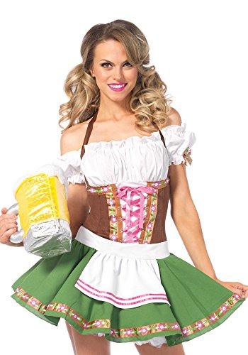 Leg Avenue 83311 - Gretchen Damen kostüm, Größe M (Braun)