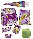 Disney Princess Rapunzel Prinzessin Schulranzen Set 7tlg. mit Federmappe gefüllt Schultüte 85cm Scooli Campus Up RAVT8252