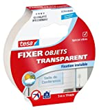 tesa Fixer Glasfigur transparent 'Transparent Objekt Fixer' 55744–00006–00 Klebeband Transparent 5 m x 19 mm