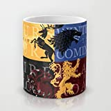 Silver Ink® Game Of Thrones Ceramic Coffee Mug (Yellow, 12 Ounce)