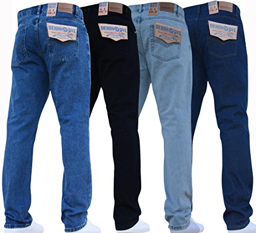 Mens Straight Leg Heavy Duty Work Basic 5 Pocket Plain Denim Jeans Big Tall Pants All Waist & Sizes