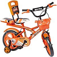 Speed Bird 14-T Robust Double Seat Bicycle Baby Cycle for Boys & Girls Age Grope 2-5 Years (Orange).