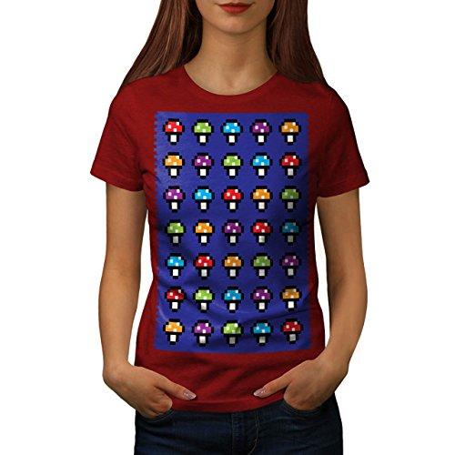Shroom Komisch Genial Geek Damen Schwarz S-2XL T-shirt | Wellcoda Rot