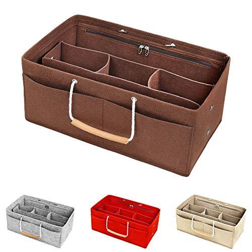 DONPEREGRINO Series X Taschenorganizer Filz mit Tragegriffen | Handtaschen Bag in Bag Organizer
