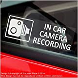 5 x Small In Car Camera Recording Stickers-CCTV Signs-Van,Lorry,Truck,Taxi,Bus,Mini Cab,Minicab-Security-Window-Go Pro,Dashcam