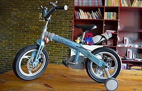 Kinder-Fahrrad, Fahrrad männlich 3-6 Jahre alt Teleskop Jungen und Mädchen 2-4 Jahre alt Berg Baby Wagen Baby Bike ( Farbe : Blau , größe : 14 inch )