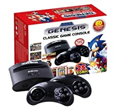 PQube Mega Drive / Genesis Sonic the Hedgehog Classic Retro Games Console - 25th Sonic Anniversary Ed - Plug and Play