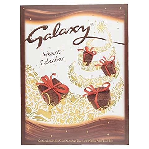 Galaxy Chocolate Advent Calendar, 110 g, Pack of 5