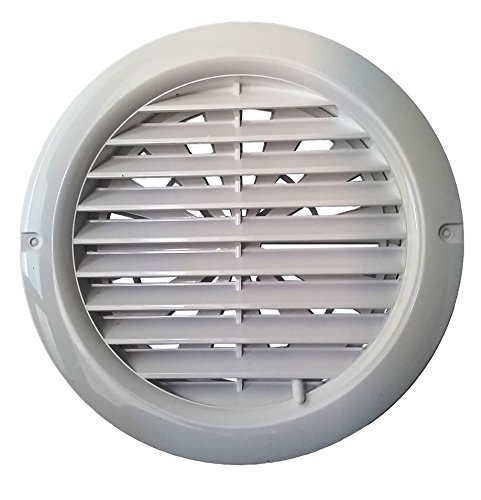 Adjustable Air Flow Circle Vent Grille Cover (80-100mm Ducting) Ventilation Cover (MV 100 BVRD) by APUK (Air-vent-rohr)
