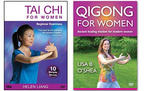 Bundle: Tai Chi Qigong for Women 2-DVD set by Helen Liang and Lisa B. O'Shea (YMAA) Tai Chi for Women DVD and Qigong for Women DVD **Bestseller**